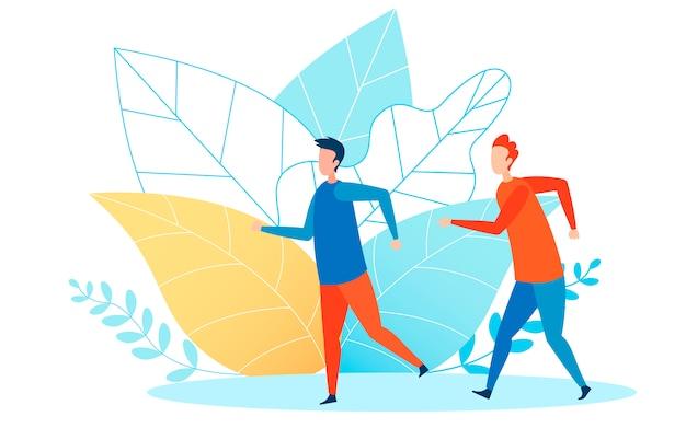 Ilustracja wektorowa płaski biegaczy lekkoatletycznego