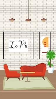 Ilustracja wektorowa płaski projekt salonu.
