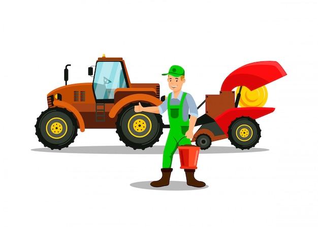 Ilustracja wektorowa płaski rolnictwa