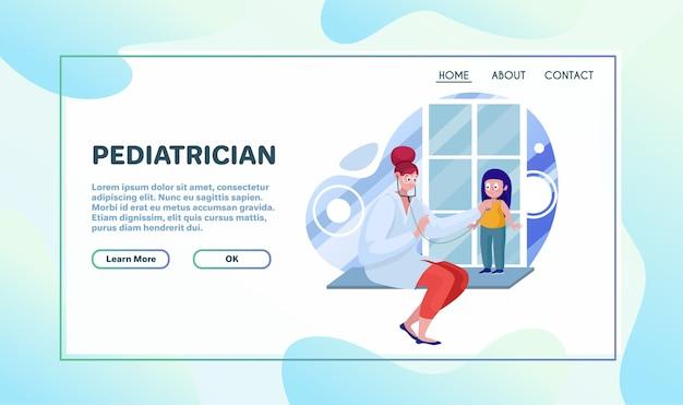 Ilustracja wektorowa płaski usług opieki zdrowotnej