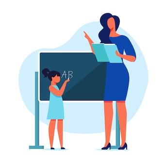 Ilustracja wektorowa płaskie edukacji szkolnej