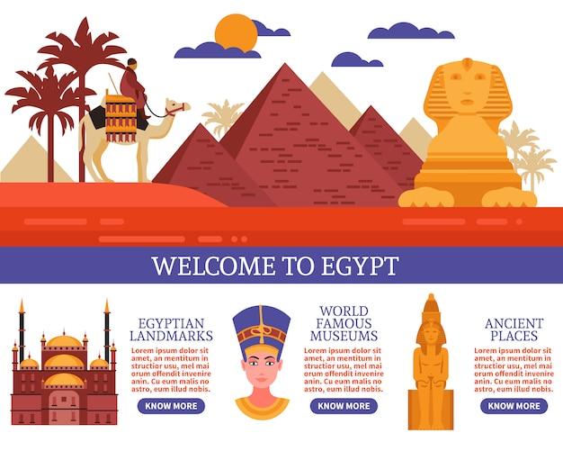 Ilustracja wektorowa podróży egipt