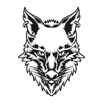 Ilustracja wektorowa postaci głowy wilka