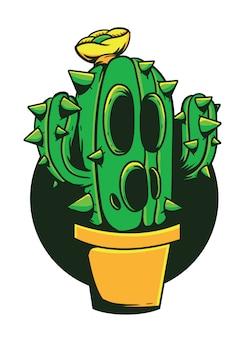 Ilustracja wektorowa potwór kaktus