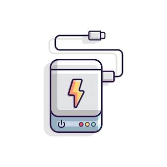 Ilustracja wektorowa powerbank