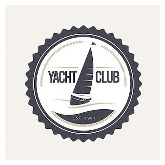 Ilustracja wektorowa projekt logo klubu jachtowego.