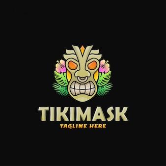 Ilustracja wektorowa projekt logo kolorowe maski tiki