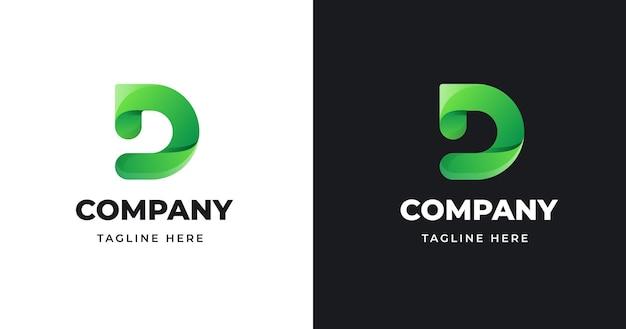 Ilustracja Wektorowa Projektowania Logo Litery D. Premium Wektorów