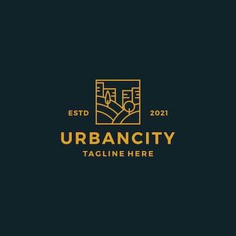 Ilustracja wektorowa projektowania logo miasta miejskiego