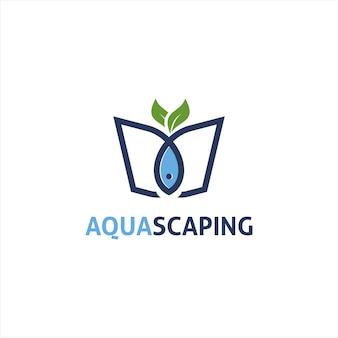 Ilustracja wektorowa projektu logo aqua scape