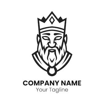 Ilustracja wektorowa projektu logo króla