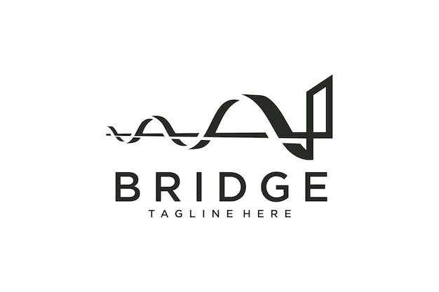 Ilustracja wektorowa projektu mostu
