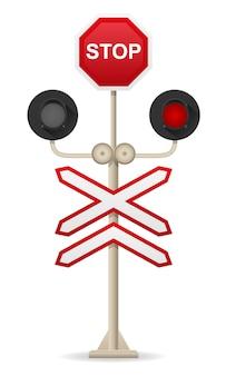 Ilustracja wektorowa przejście kolejowe