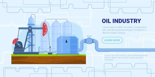 Ilustracja wektorowa przemysłu naftowego.