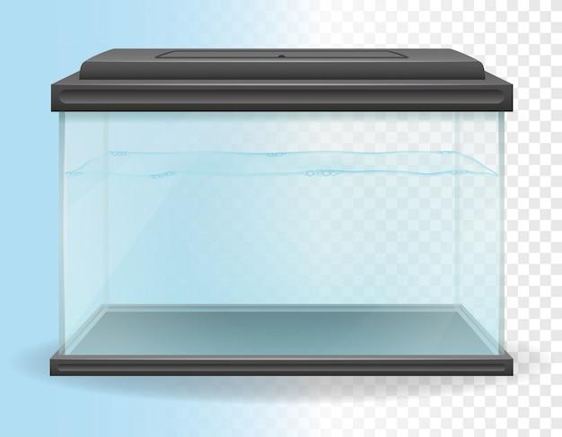 Ilustracja wektorowa przezroczyste akwarium