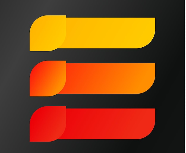 Ilustracja wektorowa przycisk kroki. elementy plansza kolor jesieni. szablon elementu projektu nowoczesny interfejs użytkownika. wektory na czarnym tle gradientowym