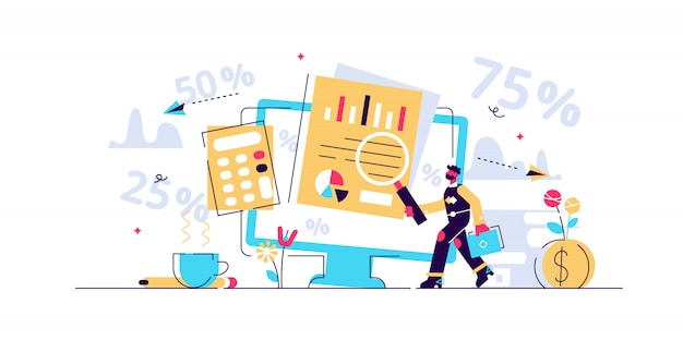 Ilustracja wektorowa rachunkowości.