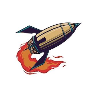 Ilustracja wektorowa rakiety
