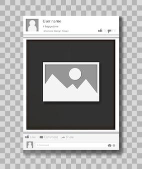 Ilustracja wektorowa ramki sieci społecznej