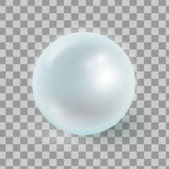 Ilustracja wektorowa realistyczne perły na białym tle