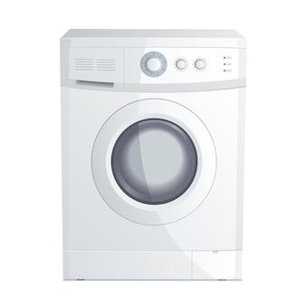 Ilustracja wektorowa realistycznej pralki