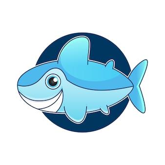 Ilustracja wektorowa rekina z otwartymi ustami pełnymi ostrych zębów, izolowana na białym tle. rekin atakuje z wody.