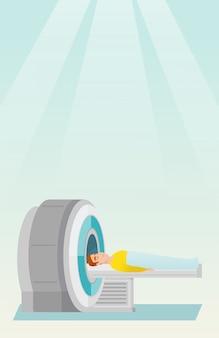Ilustracja wektorowa rezonansu magnetycznego.