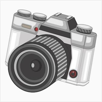 Ilustracja wektorowa rocznika aparatu