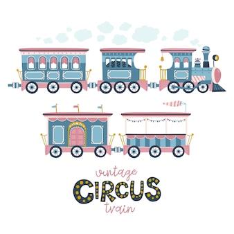 Ilustracja wektorowa rocznika pociągu.