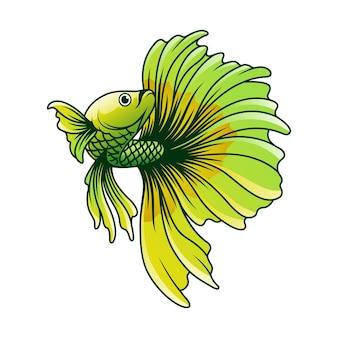 Ilustracja wektorowa ryby betta