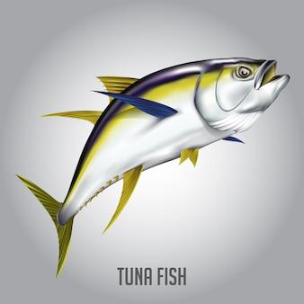 Ilustracja wektorowa ryby tuńczyk