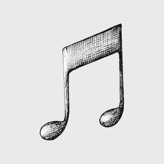 Ilustracja wektorowa rysowane ręcznie podwójne ósmy