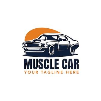 Ilustracja wektorowa samochód mięśni