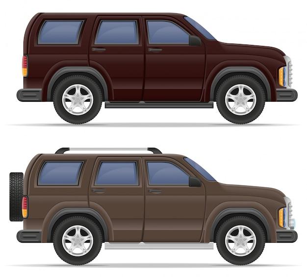 Ilustracja wektorowa samochód suv