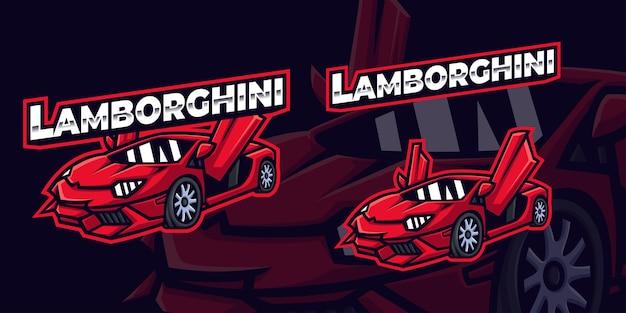 Ilustracja wektorowa samochodu sportowego lamborghini