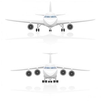 Ilustracja wektorowa samolotu