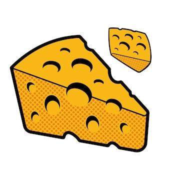 Ilustracja wektorowa sera na białym tle