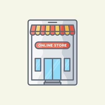 Ilustracja wektorowa sklepu internetowego
