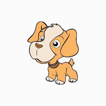 Ilustracja wektorowa słodkiego małego psa zwierząt