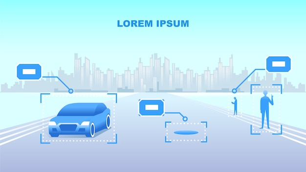 Ilustracja wektorowa smart city