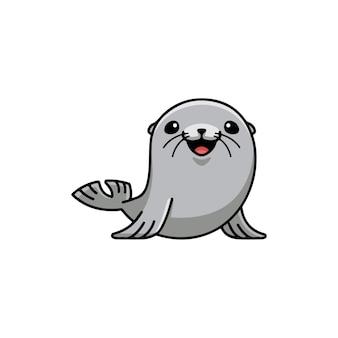 Ilustracja wektorowa śmieszne słodkie foki morskie