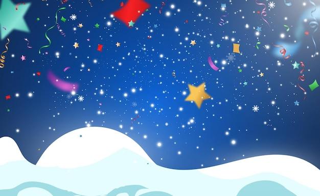 Ilustracja wektorowa spadającego konfetti na przezroczystym tle