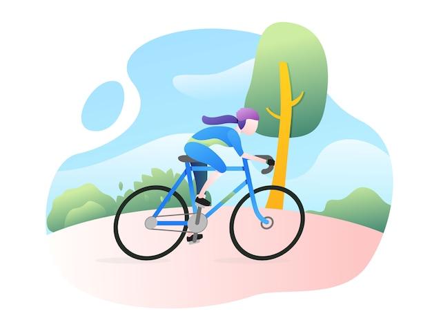Ilustracja wektorowa sport rower