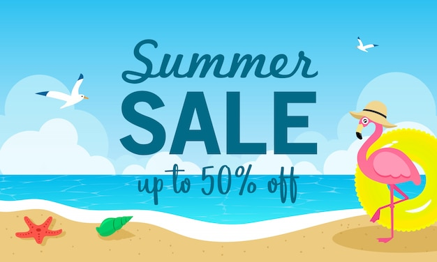 Ilustracja wektorowa sprzedaż lato