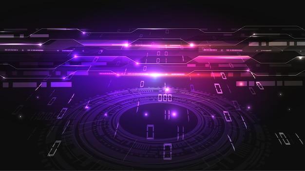 Ilustracja wektorowa streszczenie deska elektryczna, obwód. abstrakcyjna nauka, futurystyczny, web, koncepcja sieci. eps 10