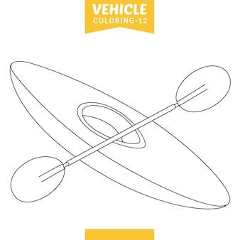 Ilustracja wektorowa strony kolorowania pojazdu