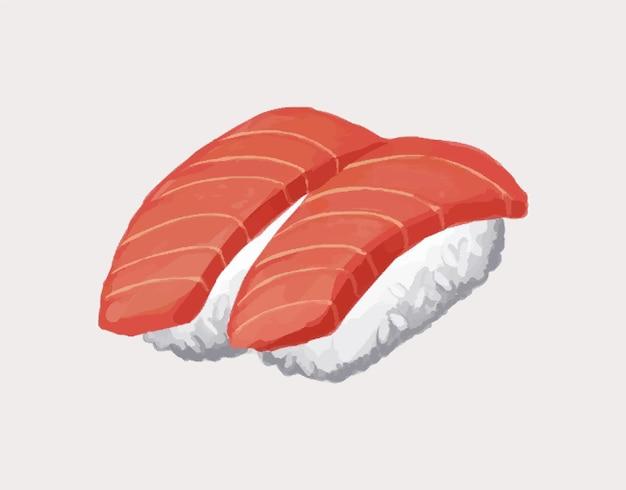 Ilustracja wektorowa sushi. gotowanie koncepcja kuchni azjatyckiej.