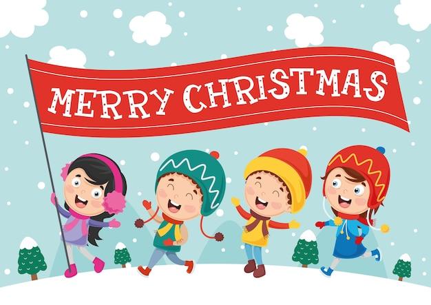 Ilustracja wektorowa świąt bożego narodzenia