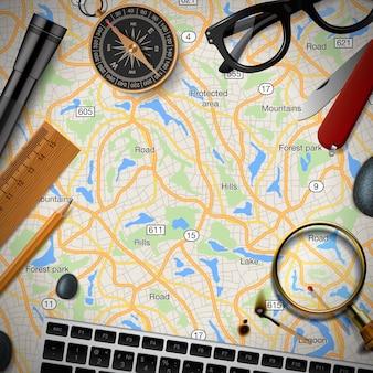 Ilustracja wektorowa szablon podróży i turystyki