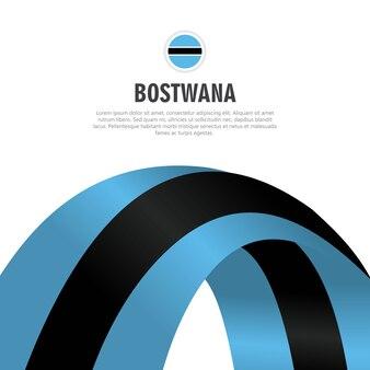 Ilustracja wektorowa szablon projektu Dzień Niepodległości Botswany